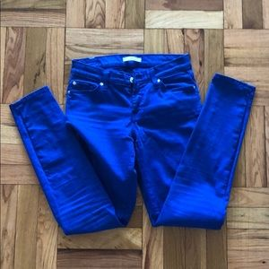 7 for ALL MANKIND COLORED JEANS (BLUE) SZ 26